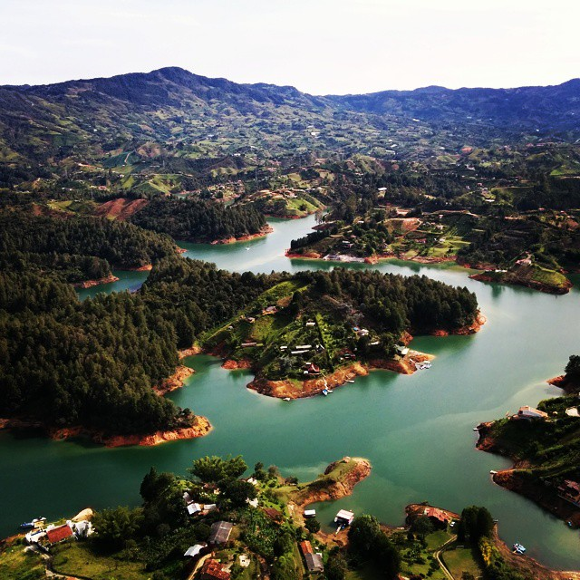 Breathtaking view of #guatape in #colombia. Now if I only had a jetski to enjoy the water. #bloggerlife #wow