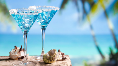 ABC Islands: Blue Cocktails in Curacao
