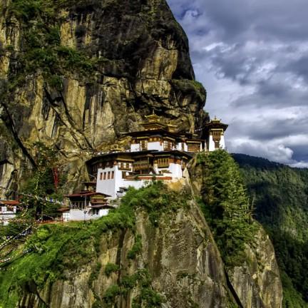 Hanging Temple of Tigers Nest in Bhutan