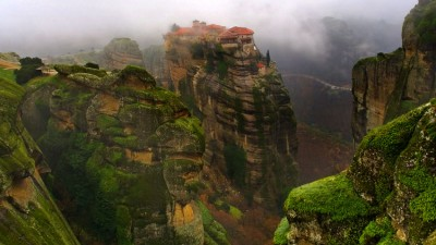 Stand on the Meteora in Greece