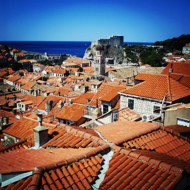 The rooftops of #dubrovnik.  #travelbug #travelling #croatia #travel